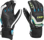Leki Worldcup Race Coach Flex S GTX Handschuhe Black/Cyan