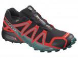SALOMON Speedcross 4 GTX  L40657500 Black/Red  Gore-Tex Herren Men