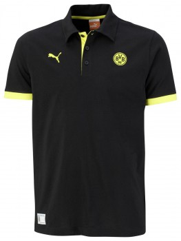 PUMA BVB Fan Polo black -blazing yellow Men