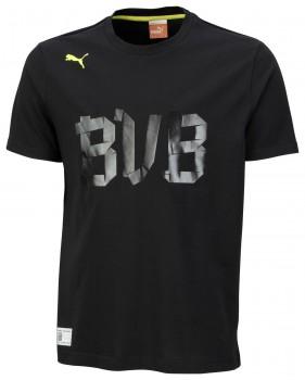 PUMA BVB Fan Tee Black  MEN Größe