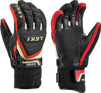 Leki Worldcup Race Coach C-Tech S Black/Red Handschuhe Größenwahl