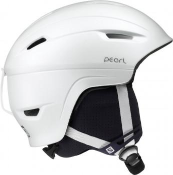 Salomon Pearl 4D White Damenskihelm Größe M Modell 2018/2019
