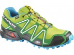 SALOMON Speedcross 3 GTX Gore-Tex Herren Größe UK 8,5 = 42,5 GREEN/GR/BLUE