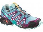 SALOMON Speedcross 3 GTX Gore-Tex Damen Größe 7/40,5 OPALINE BL/BL